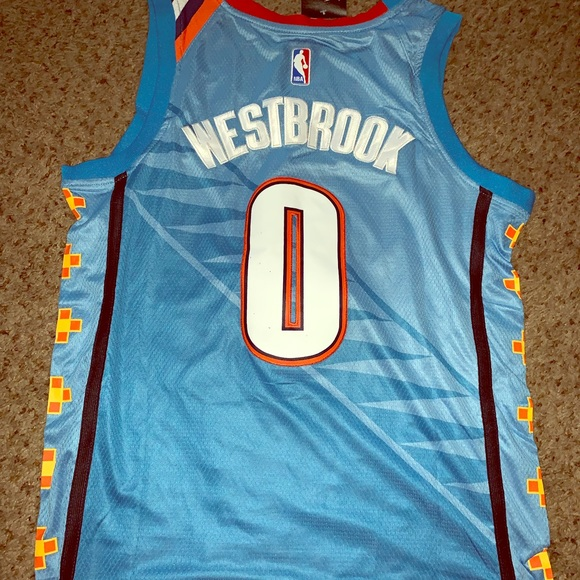 timeless design 07132 aa20d NBA Oklahoma City thunder Russell Westbrook jersey NWT